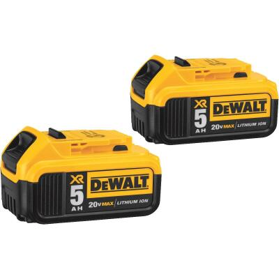 DeWalt 20 Volt MAX XR Lithium-Ion 5.0 Ah Premium Tool Battery (2-Pack)