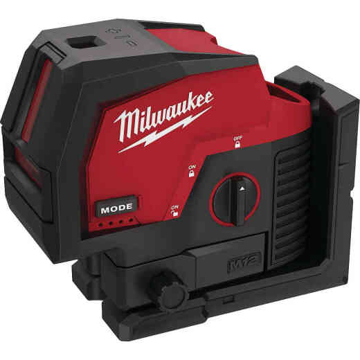 Milwaukee M12 Green Cross Line and Plumb Points Laser (Bare Tool)
