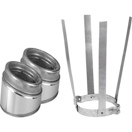 SELKIRK Sure-Temp 30 Degree 8 In. Stainless Steel Insulated Elbow Kit