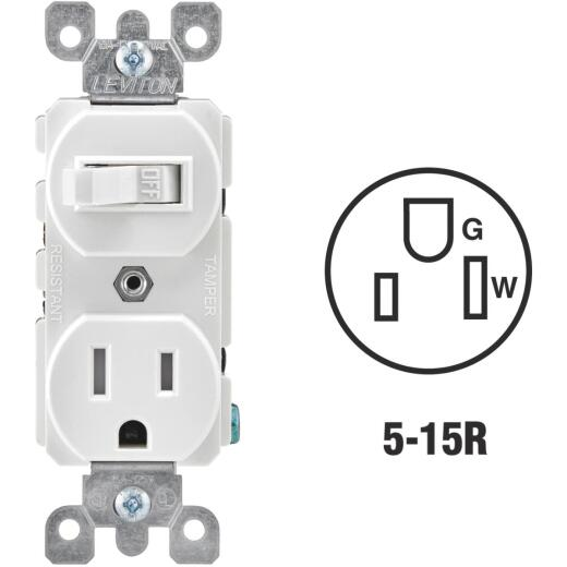 Leviton White 15A Commercial Grade Switch & Outlet