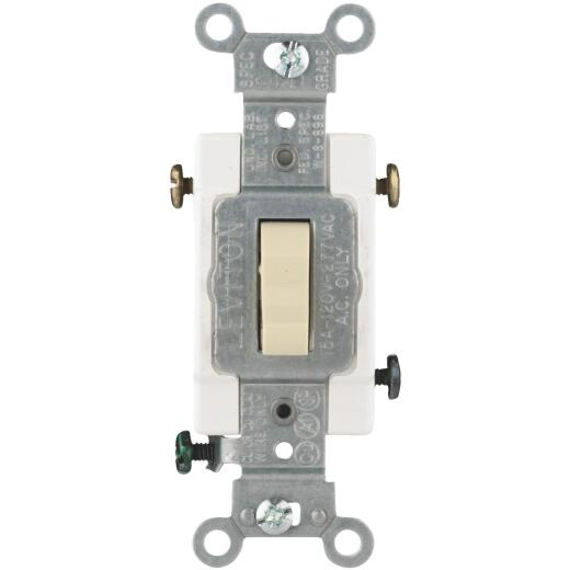 Leviton Toggle Ivory 15A Grounding Quiet 3-Way Switch