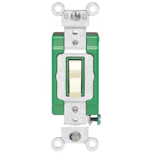 Leviton Toggle Ivory 30A Grounded Quiet Double Pole Switch