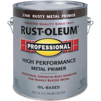 Rust-Oleum Professional High Performance Rusty Metal Primer, Red/Brown, 1 Gal.