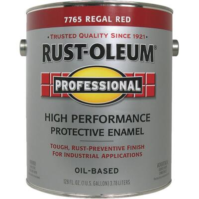 Rust-Oleum Professional Oil Based Gloss Protective Rust Control Enamel, Regal Red, 1 Gal.