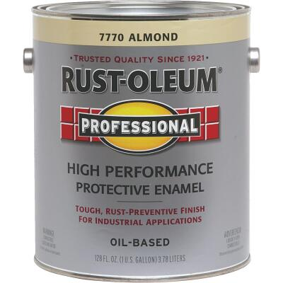 Rust-Oleum Professional Oil Based Gloss Protective Rust Control Enamel, Almond, 1 Gal.