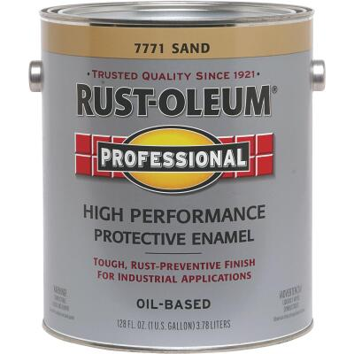 Rust-Oleum Professional Oil Based Gloss Protective Rust Control Enamel, Sand, 1 Gal.