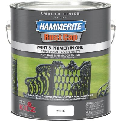 Hammerite Rust Cap Oil-Based Gloss Smooth Rust Control Enamel, White, 1 Gal.