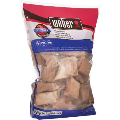 Weber FireSpice 350 Cu. In. Hickory Smoking Chunks